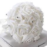 Jual 17 X Busa Mawar Buatan Kerajinan Hiasan Pesta Pernikahan Buket Bunga Pengantin Dekorasi Putih Internasional Ori