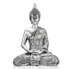 17 Cm Happy Buddha Meditasi Duduk Gambar Kecil Bodhisattva Dekorasi Patung-Intl