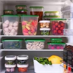 17 Pcs Tertutup Rak Kulkas Plastik Makanan Penyimpanan Boxpreservation Dapur Kotak Wadah Persediaan (Hijau)-Internasional