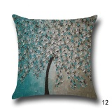 Jual 18 Vintage Linen Cotton Cushion Cover Throw Pillow Case Sofa Home Decor 3D Oil Painting Tree Pattern Design 12 Intl Online Di Tiongkok