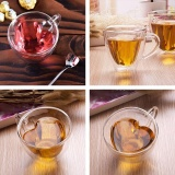 Beli 180 Ml Jantung Dinding Ganda Berlapis Clear Transparan Glass Tea Cup Coffee Mug Hadiah Intl Kredit