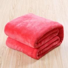 180x200 Cm Musim Dingin Hangat Selimut Flanel Plush Selimut Bulu Karang Tebal Bedspread AIR CONDITIONING Nap Cobertor Throw Selimut Di Sofa/Tempat Tidur Yoga Plaid-Intl