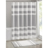 Harga Termurah 183X183 Cm Spa Waffle Bath Shower Curtain Grey Intl