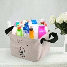 18L Grey Kantong Cucian Rumah Tangga Dapat Dilipat Linen Keranjang Penyimpanan atau Bin Meja Kotak Makeup Penyimpanan Pakaian Kotor Sorter-Intl