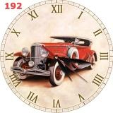 Jual 192 Hiasan Interior Ruang Jam Dinding Unik Vintage Motif Mobil Klasik Natural Grosir
