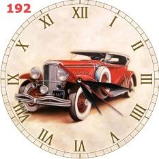 Harga Hemat 192 Hiasan Interior Ruang Jam Dinding Unik Vintage Motif Mobil Klasik