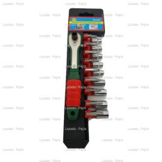 19in1 Kunci Sok Shok Screwdriver Tools Set 9 Mata Obeng 9 Kunci Shock Min Plus Bintang