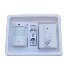 1in1 Masuk Alarm Selamat Datang Lonceng Bel Pintu Nirkabel IR Monitor Sensor Detektor-Internasional