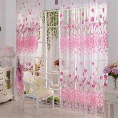 Beli 1 M X 2 M Gogolife Tulip Flower Door Room Divider Sheer Panel Drape Tirai Internasional Baru