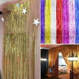 Jual 1 M 3 M Metalik Fringe Tirai Pesta Foil Perada Kamar Rumah Stage Wall Decor Door Dekorasi Intl Murah