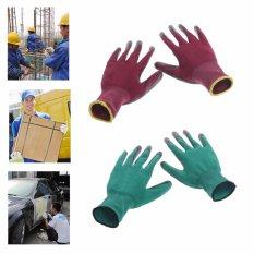 1 Pasang Rajut Keselamatan Pergelangan Tangan Sarung Tangan Putih Tenaga Kerja Pabrik Perbaikan Taman - Intl