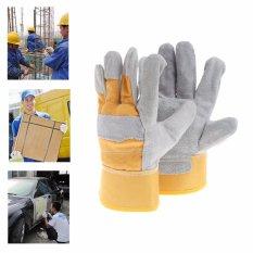 1 Pasang Kerja Pelindung Sarung Tangan Tebal Keselamatan Pekerja Pabrik Perbaikan Wear-resistant - Intl