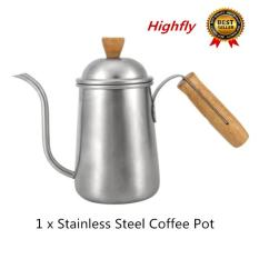 1Pc 650Ml Kitchen Stainless Steel Pour Coffee Drip Pot Kettle With Long Over Gooseneck Spout Intl Diskon Akhir Tahun