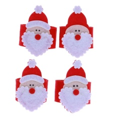 1 PC Natal Santa Claus Cincin Serbet Makan Dudukan Pesta Makan Malam Dekorasi (Merah)-Intl