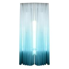 1 Pc Warna Gradient Tulle Belaka Pintu Jendela Skrining Tirai Penghalang Syal Semata-mata (biru)