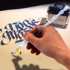 Toko 1Pc Oblique Dip Pen Handle Penholder Nib Holder For English Calligraphy Copperplate Scripts Intl Tiongkok