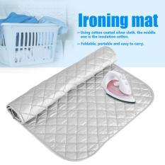 1 PC Portable Dapat Dilipat Setrika Katun Mat Silver Laundry Pad Penggunaan Rumah Tangga (48*85 Cm)-Intl