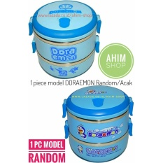 Harga 1Pc Rantang 2 Susun 1400 Ml Lunch Box Stainless Steel Model Doraemon Random Tempat Makanan Koleksi Favorit Baru Murah