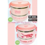 Jual 1Pc Rantang 2 Susun 1400 Ml Lunch Box Stainless Steel Model Hello Kitty Random Tempat Makanan Koleksi Favorit Grosir