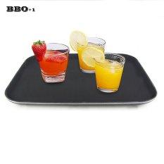 1 Pcs Minuman Kopi Snack Plate Tahan Pallet Rectangle Makanan Cepat Saji Dish Baki Plastik untuk Dapur Bar-Internasional
