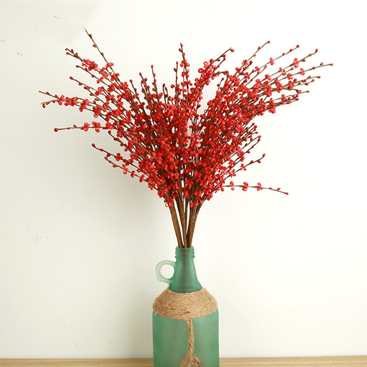 1 buah rumah palsu buatan anggrek bunga sutra pesta pengantin & dekorasi taman kamar Weddding Merah - Internasional