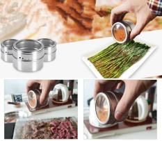Harga Termurah 1Pcs Lot Magical Magnetic Stainless Steel Spice Jar Monosexuality Tank Sauce Pot Seasoning Bottle Intl