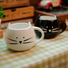 Beli 1 Pcs Novelty Cute Cat Animal Milk Mug Keramik Kopi Kreatif Porcelain Tea Cup Bagus Hadiah Intl Oem Asli