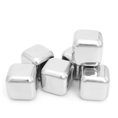 1PCS Stainless Steel Whiskey Stones Ice Cubes Soapstone Glacier Cooler Stone - intl