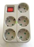 1Pcs Uticon Stop Kontak Steker Arde 5 Lubang Multisocket Saklar 1 Switch 5In1 Pengaman Socket Abu Abu Jawa Timur Diskon 50