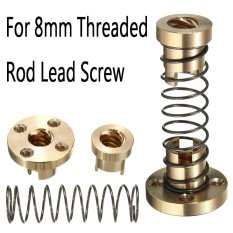 1Set Brass T8 Anti Backlash Spring Loaded Nut For 8Mm Threaded Rod Lead Scr*W Intl Oem Diskon 40
