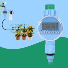 Spesifikasi 1X Ac Garden Auto Penghematan Air Pengawas Irigasi Lcd Digital Penyiraman Timer Steker International Murah