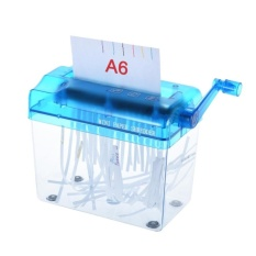 1X Berkualitas Tinggi A6 Manual Hand Paper Shredder Dokumen File Handmade Straight Mesin Pemotong Alat untuk Penggunaan Rumah Kantor Sekolah -Intl