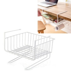 Ulasan Mengenai 1X Multi Purpose Metal Hanging Under Shelf Keranjang Penyimpanan Pemegang Hanger Laci Closet Organizer Basket Wrap Rack Bookcase Stand Intl