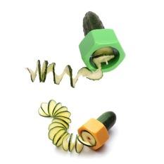 Jual 1×Green 1×Yellow Mentimun Spiral Slicer Alat Memasak Kebutuhan Dapur Aksesoris Buah Peeler Sayuran Alat Oem Online