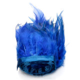 Harga 91 M Ayam Hackle Bulu Jumbai Hiasan Topi Wanita Bahan Kerajinan Menjahit Kostum Biru Tua Internasional Terbaru