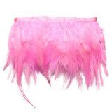 Spesifikasi 91 M Ayam Hackle Bulu Jumbai Hiasan Topi Wanita Bahan Kerajinan Menjahit Kostum Berwarna Merah Muda Terbaik