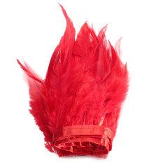 Spesifikasi 91 M Ayam Hackle Bulu Jumbai Hiasan Topi Wanita Bahan Kerajinan Menjahit Kostum Merah Internasional Dan Harganya