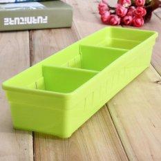 2 Pcs Lemari Laci Sendok Garpu Organizer Kotak Penyimpanan Sendok Garpu Bekas Peralatan Dapur Kuning-Intl