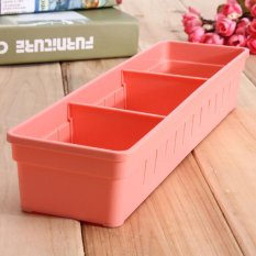 2 Pcs Lemari Laci Sendok Garpu Organizer Kotak Penyimpanan Sendok Garpu Bekas Peralatan Dapur Merah-Intl