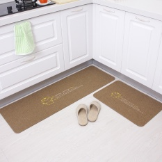 2 Pcs/set Dapur Mats Panjang Minyak Anti-slip Bantalan Penyerap Kebersihan Pintu Tikar Kamar Tidur Karpet 40x60 Cm + 40x120 Cm-Intl