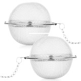 2 Buah Kawat Stainless Steel Bola Interval Saringan Teh Saringan Infuser Bola Thinch Diskon 40