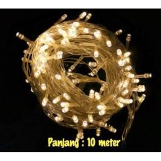 2 ROLL Lampu Natal Hias LED Warm White Panjang 10 Meter