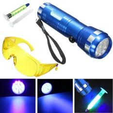2 X Leak Detector Sebuah/C Cairan Otomotif Gas 14 LED UV Ringan & Keamanan Kacamata 1 Set- internasional