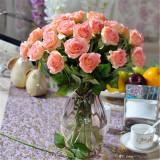 Harga 20 Kepala Nyata Lateks Sentuh Mawar Bunga For Buket Pernikahan And Rumah Desain Desember Internasional Murah