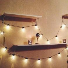 20 LED Window Curtain Lights String Star Lampu House Party Decor Menyerang-Intl