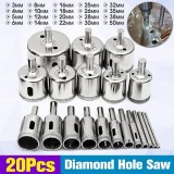 Toko 20 Pcs 3 50Mm Diamond Drill Bits Set Hole Saw Cutter Tool Kaca Marmer Granit Intl Dekat Sini