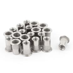 Harga 20 Pcs 304 Stainless Steel Rivet Nut Rivnut Sisipkan Nutsert M6X15Mm Oem Original