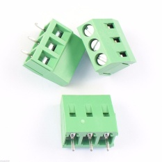 20 Pcs KF126 3 Pin 5mm Pitch PCB MOUNT Screw Terminal Block AC 250 V 8A-Intl