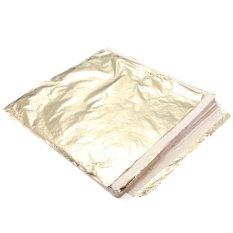 Diskon 200 Lembar Imitasi Daun Emas Foil 14X14 Cm Transfer Permukaan Daun Gilding Diy Not Specified