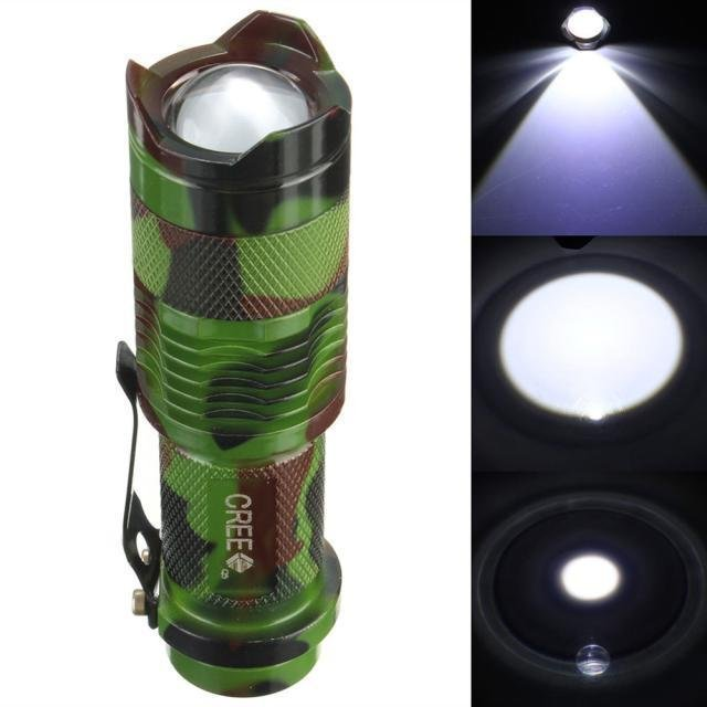 Spesifikasi 2000 Lumen Zoomable Cree Q5 Led 3 Mode Lampu Senter Lampu Zoom Obor Lampu Outdoor Hitam Yang Bagus
